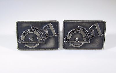 Cufflinks with Vintage Skilsaw