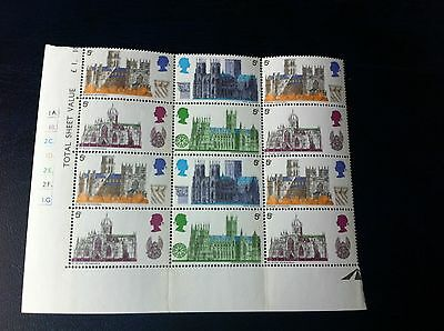 1969 Mint Block Of Cathedrals Stamps