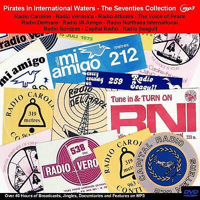 Pirate Radio The 70s Collection of Pirate Radio Broadcasts 40hrs on DVD MP3
