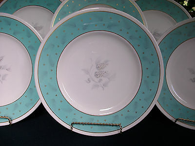 WEDGWOOD WESTOVER  W3981 (c.1950's)- DINNER PLATE(s)- EXCELLENT!! MINT!! GILT!