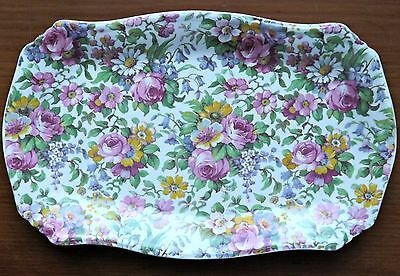 "Royal Winton Grimwades Chintz ""Summertime"" 8"" Tray"