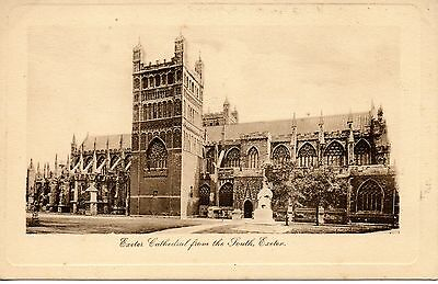 EXETER CATHEDRAL FROM THE SOUTH c1905 TUCKS POSTCARD EXC