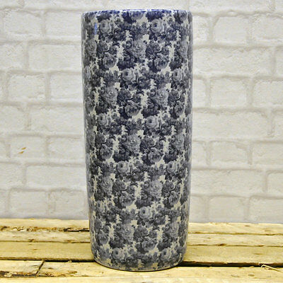 Vintage Blue & White Style Traditional Floral Rose Ceramic Umbrella Stand