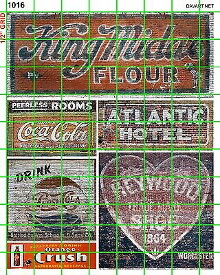 1016 Dave's Decals Midus Flour Soda Pop Shoes Building Ghost Signs Advertising