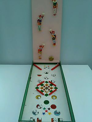 Vintage Bagatelle type game Tipping Clowns with Marbles 1930s? 1940s?