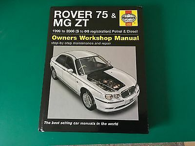 Rover 75 / MG ZT Haynes manual, excellent condition throughout