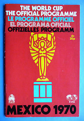 1970 Mexico World Cup official tournament programme