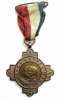 1911 - Scarce Cinque Ports Hastings King George V Brass Coronation Medal