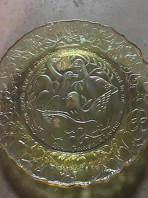 Imperial Gold  Carnival Sixth  day of 12 Days of CHRISTMAS Plate,