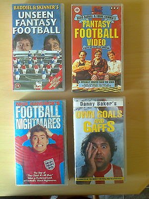 4 Comedy Football VHS Tapes