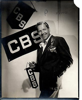 g342 Original 1949 CBS-TV Contact Photo actor Roger Pryor married to Ann Sothern