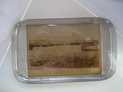 Peterhead South  Harbour Postcard Type View Vintage Paperweight