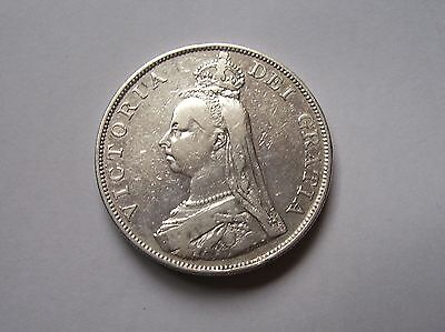 Victoria Double Florin Dated 1888  Inverted I Rare