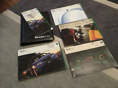 Skoda Fabia Owners Manual Handbook & Wallet Set 2000-2004 Mark 1 Pre-Facelift