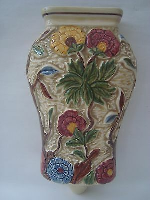 Indian Tree Hand-Painted Wall Pocket