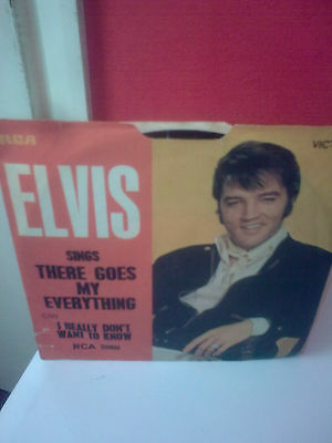 """Elvis Presley There Goes My Everything 7"""" Ps"""