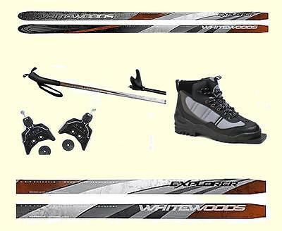 160cm -FOR 90 TO 120#  SKIER - LOW PRICE EASY TO SKI CROSS COUNTRY SKIS PACKAGE