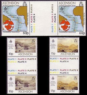 Ascension Royal Geographical Society Gutter Pairs SG#274/76