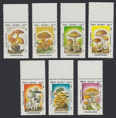 Afghanistan Fungi Mushrooms 7v with Top margins SG#1028/34 SC#1165D-71