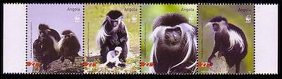 Angola WWF Black-and-white Colobus Strip of 4v SG#1717/20 SC#1279 a-d MI#1745-48