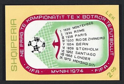 Albania World Cup Football Championship 1st issue MS D1 SG#MS1625 SC#1535