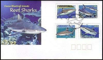 Cocos (Keeling) Is. WWF Sharks FDC