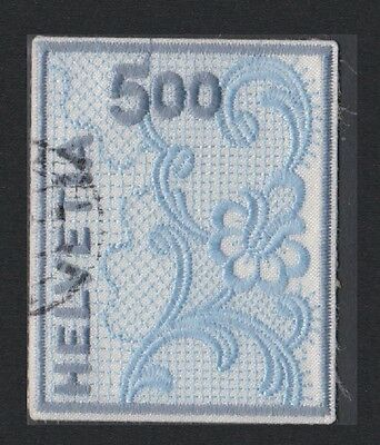 Switzerland St. Gallen Embroidery The stamp with real Textile! SG#1460