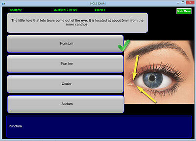 NCLE CONTACT LENS EXAM OPTICIAN STUDY CD (mobile app available)