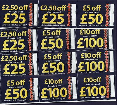 FARMFOODS DISCOUNT VOUCHERS-- VALID UNTIL 10th FEBRUARY 2017