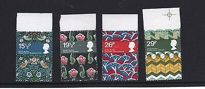 1982 British Textiles  Mint Set Of Four As Issued