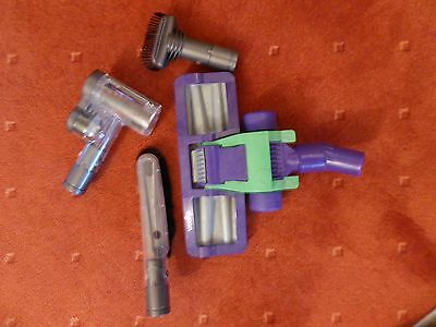 Genuine DYSON Handheld Attachments - 2 brushes, 1 turbo roller, 1 Contact Head