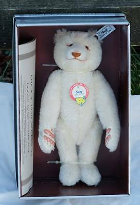 Steiff Dicky Bear 1930, Replica 1992. Vintage Mint In Box With Certificate