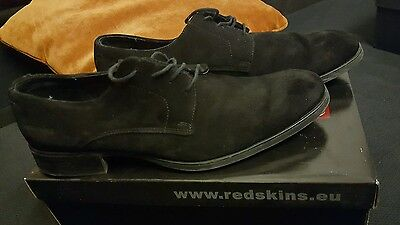 Redskins  black men's suede  smart  casual shoes  size 7