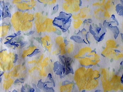 Vintage Laura Ashley Fabric 'Confetti' Cowslip 1993