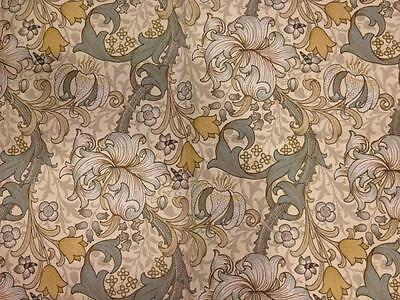 Vintage Fabric Sandersons 'Golden Lily Minor' William Morris