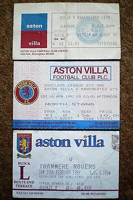 ASTON VILLA FC Football Ticket Stub Collection Villans Memorabilia AVFC Job Lot