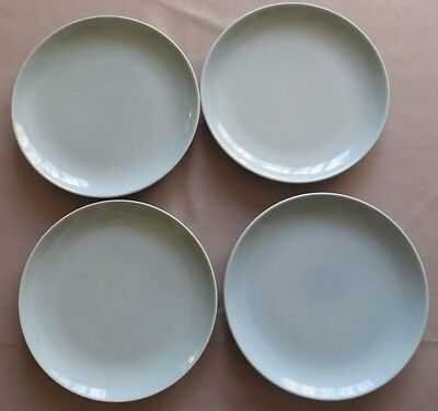 Russel Wright Ice Blue Iroquois Casual Dinner Plates (4)