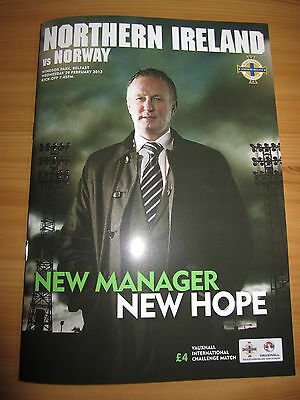 NORTHERN IRELAND v NORWAY  Fr  29.2.12  Michael O'Neills 1st Game as Manager