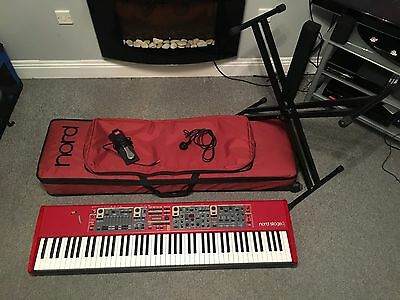 NORD Stage 2 88 Key Hammer Action Stage Piano + Case + Stand