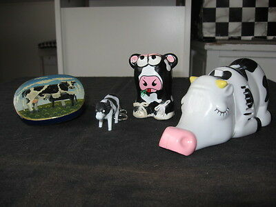 COW COLLECTIBLES DESK VACUUMS ERASER STUFF,KEY CHAIN ,GRASS POT, small container