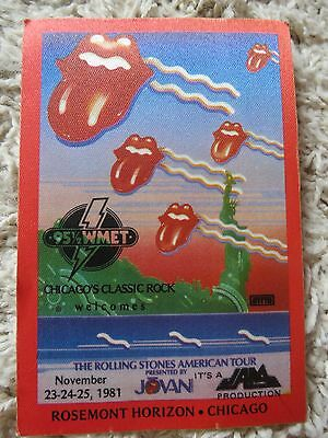 The Rolling Stones Concert Rock Band Cloth ToTTO Patch Vintage New 1981 Chicago