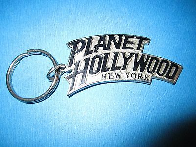 Planet Hollywood New York Metal Keychain NEW
