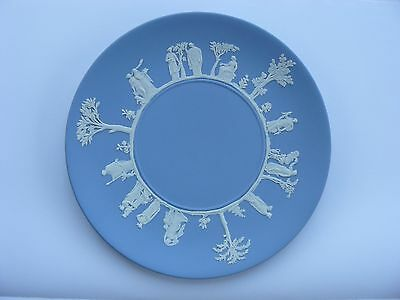 Wedgewood Jasper Blue Cake Plate in Original Box