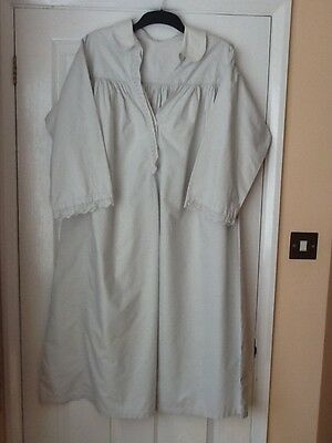 Vintage Victorian?/ Edwardian? Cotton Nightgown With Lace.