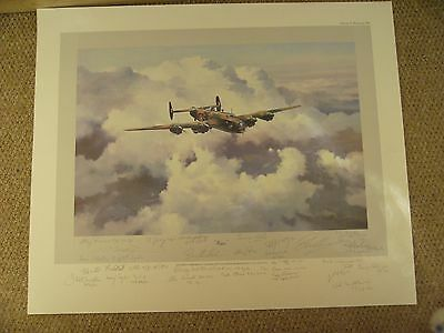 `HALIFAX LEGEND`print by ROBERT TAYLOR signed by ARTIST & 24 BOMBER COMMAND VETS