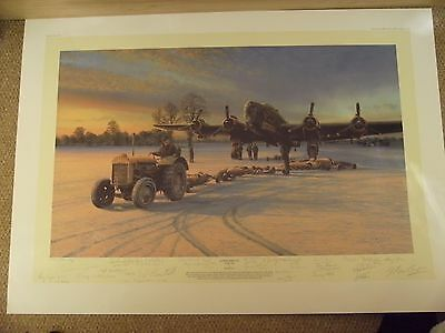 `ACTION THIS DAY`print by RICHARD TAYLOR signed by ARTIST & 25 VETERANS