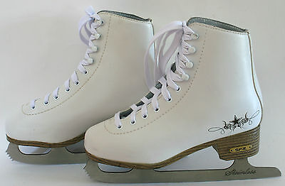 """""""SFR -GOLD EDITION"""" Ice Skates - Size 4 UK (Excellent Condition)"""