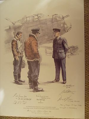 GILL COHEN PRINT `MY OLD LAGS`signed by ARTIST & 6 VETERANS