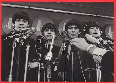 The Beatles, Black and White Postcard, 2004 Apple Corps, Rare Image (#18)