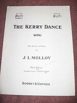 The Kerry Dance Vintage Sheet Music